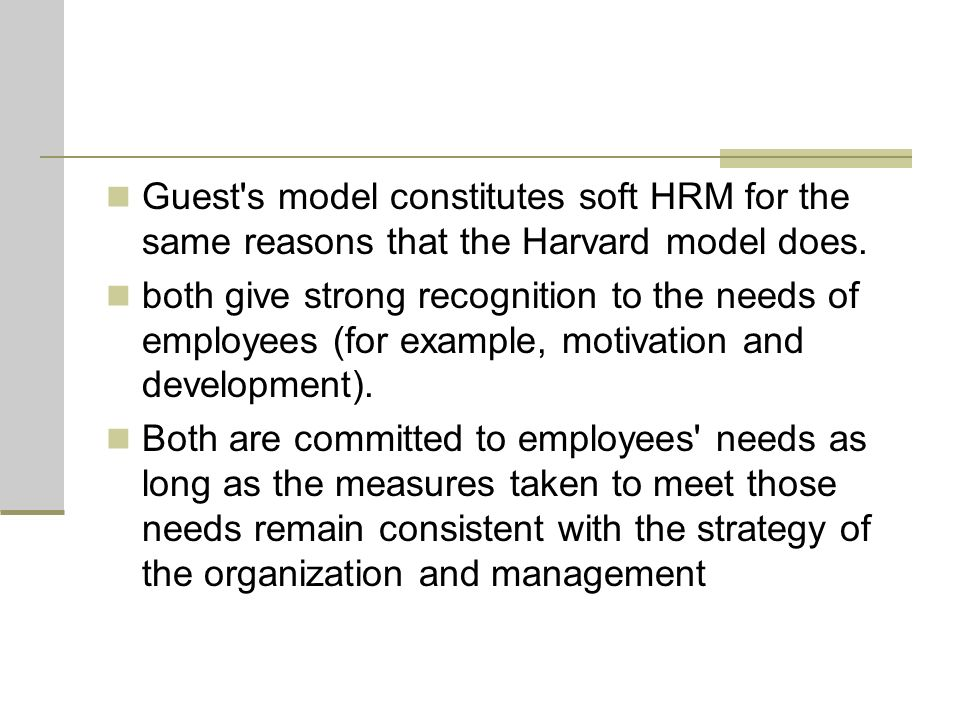 guest 1987 hrm model Essays - largest database of quality sample essays and research papers on guest 1987 hrm model.