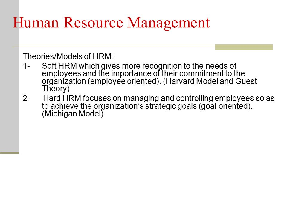 What Are the Major Objectives of Human Resources Theory ...