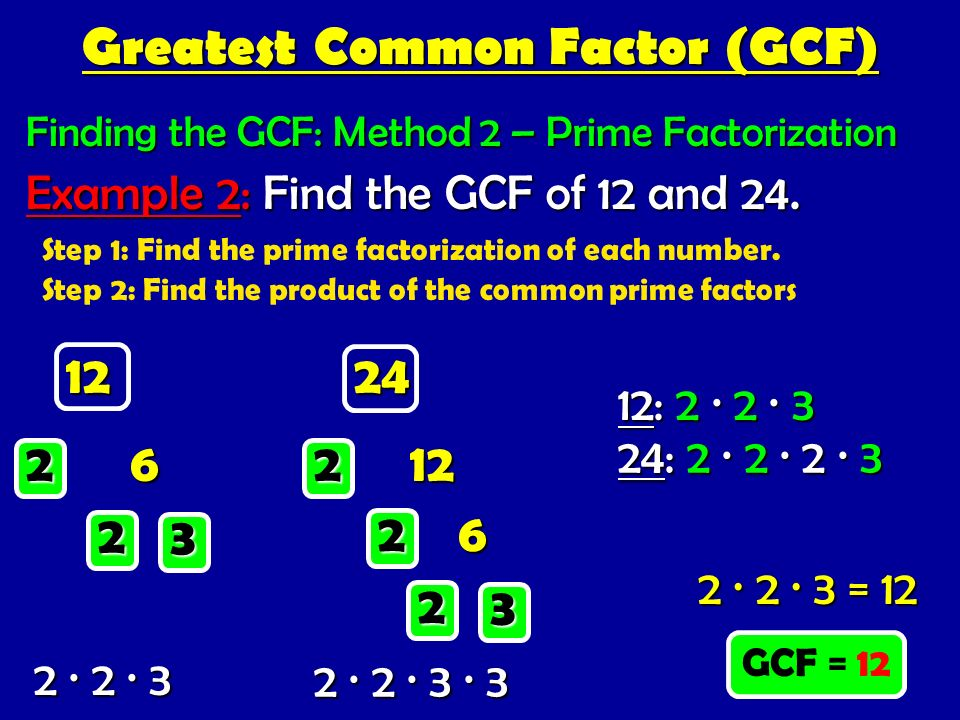 how to find the greatest common factor using prime factorization