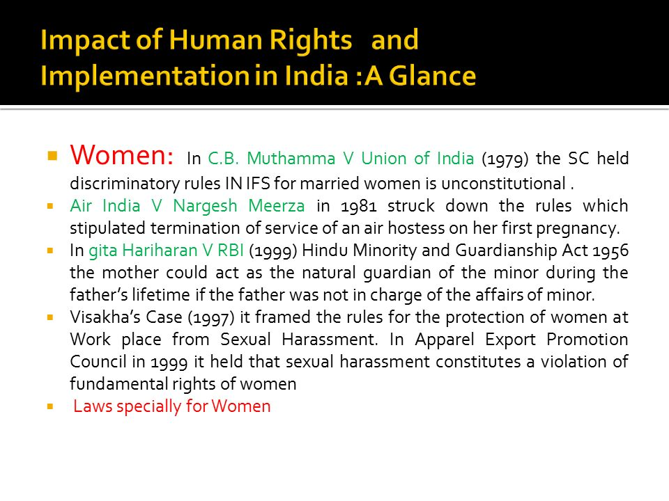 Impact of Human Rights and Implementation in India :A Glance