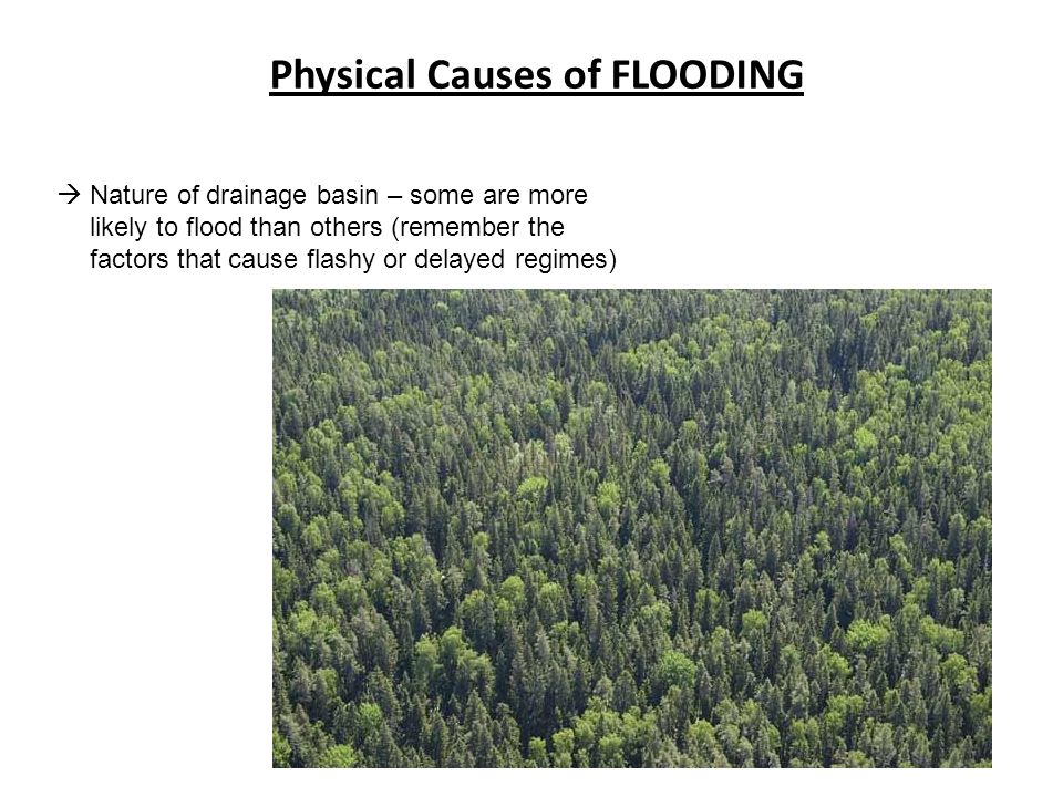 flooding causes and prevention