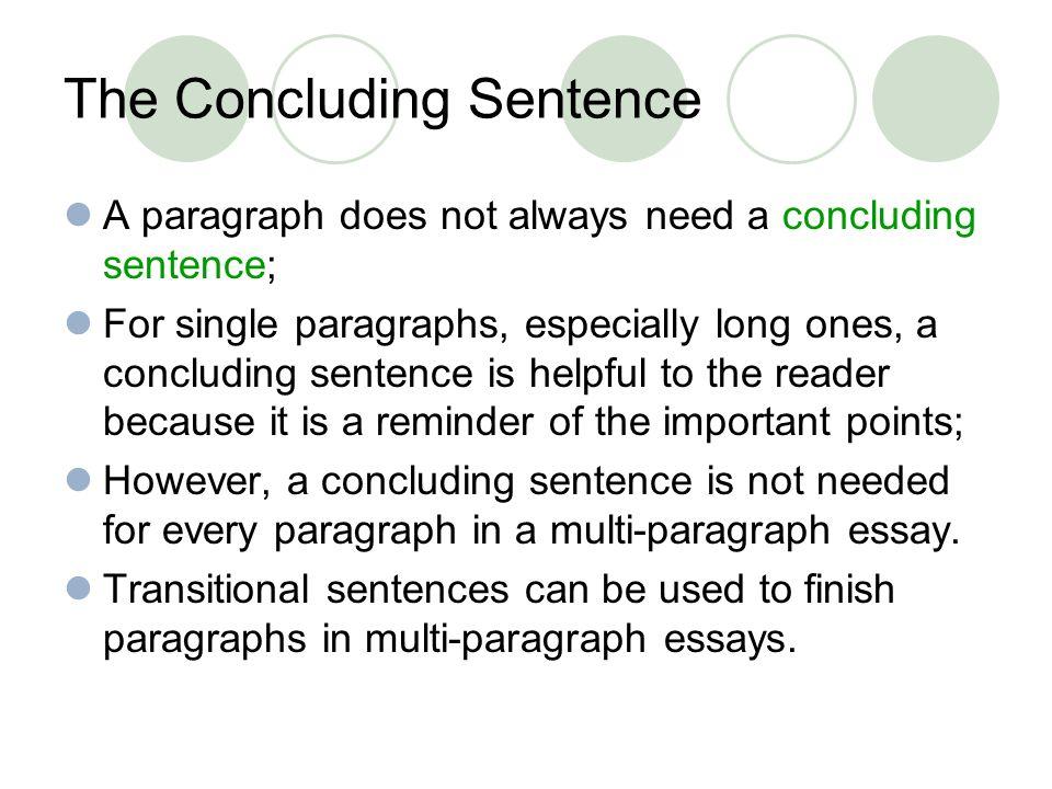 a good closing sentence
