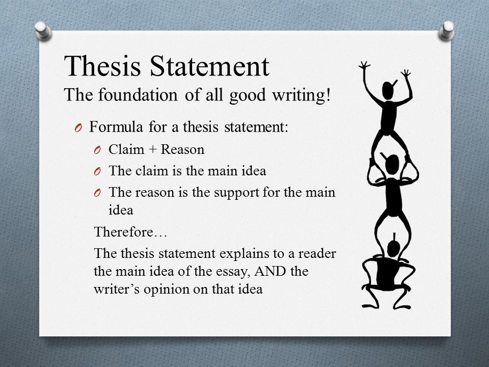 basics of a good thesis