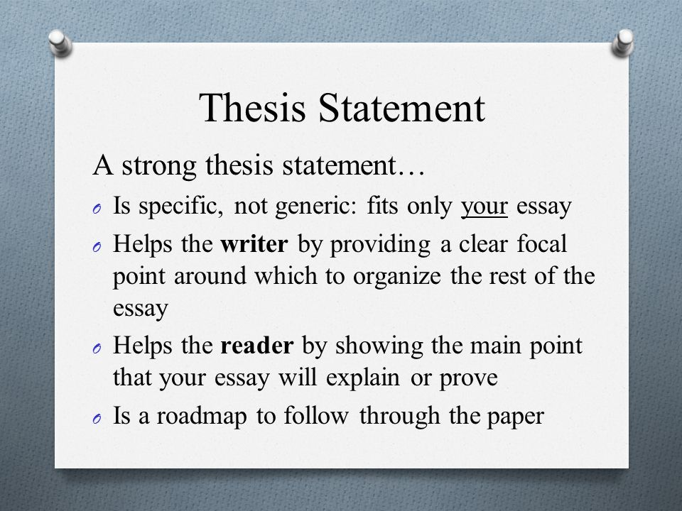 Thesis Statement Builder: Home