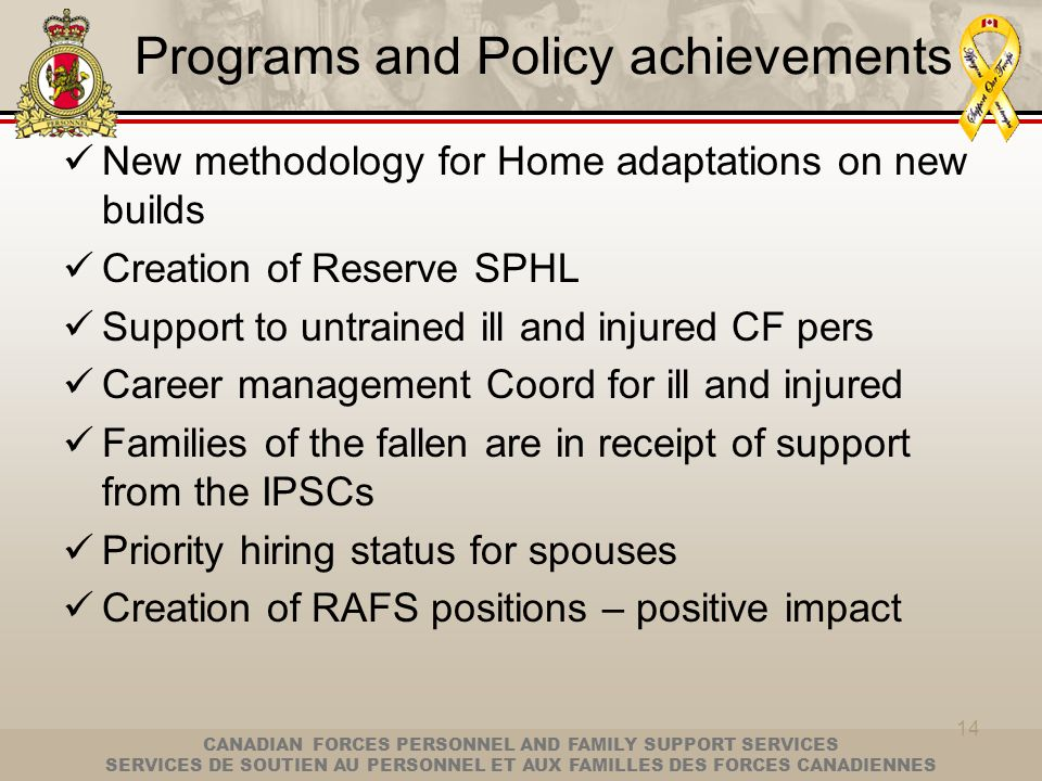 Programs and Policy achievements