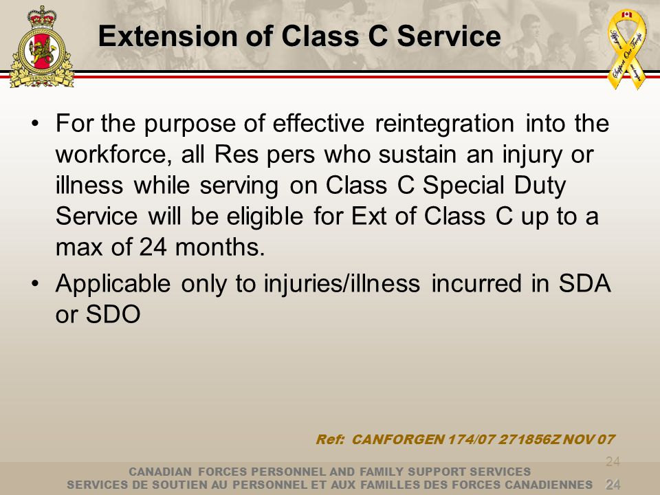 Extension of Class C Service