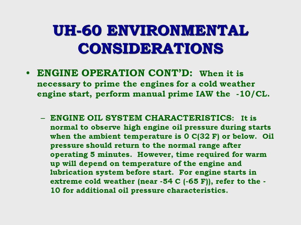 Cold weather operations ppt video online download for What motor oil is best for cold weather