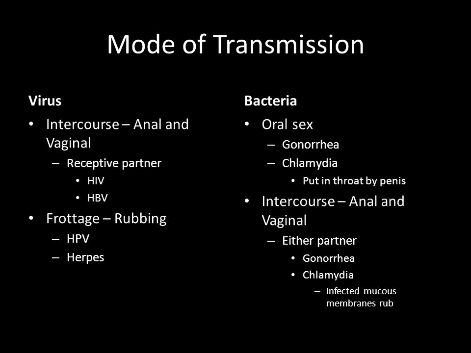 bacterial infections from anal intercourse