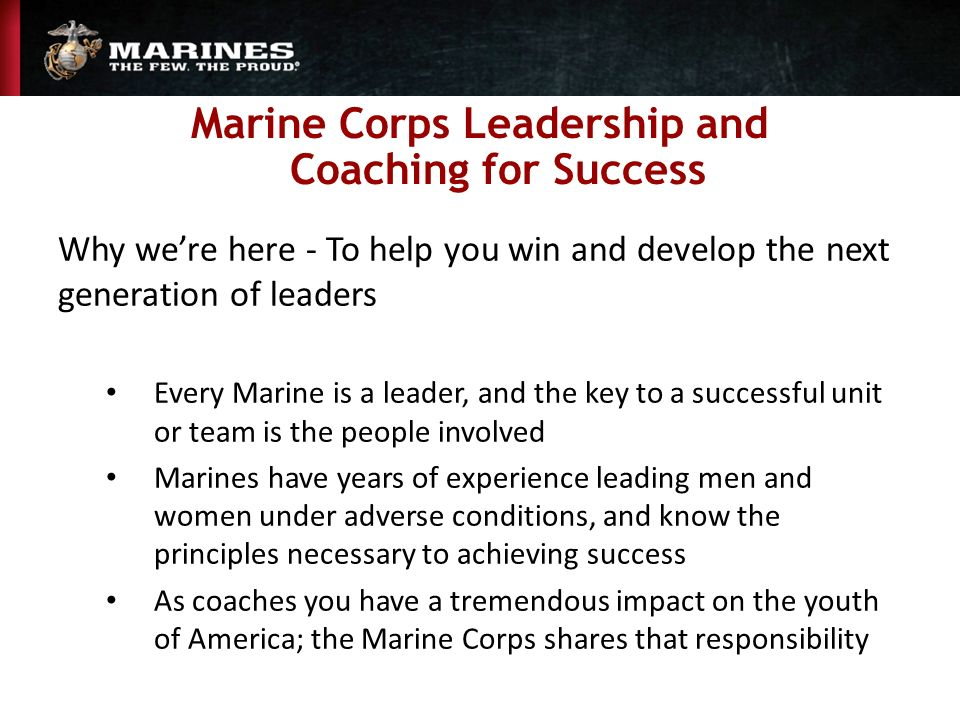 Marine Corps Leadership And Coaching For Success  Ppt. Certificate Programs In Chicago. Cheapest Car Insurance In Nyc. Best Online Business Cards Name Tags Badges. San Francisco Car Donation Omaha Events Today. Laser Hair Removal Surgery Dr Parrott Dentist. Computer Information Technology Online Degree. Culinary Schools In Tennessee. The Melanoma Research Foundation