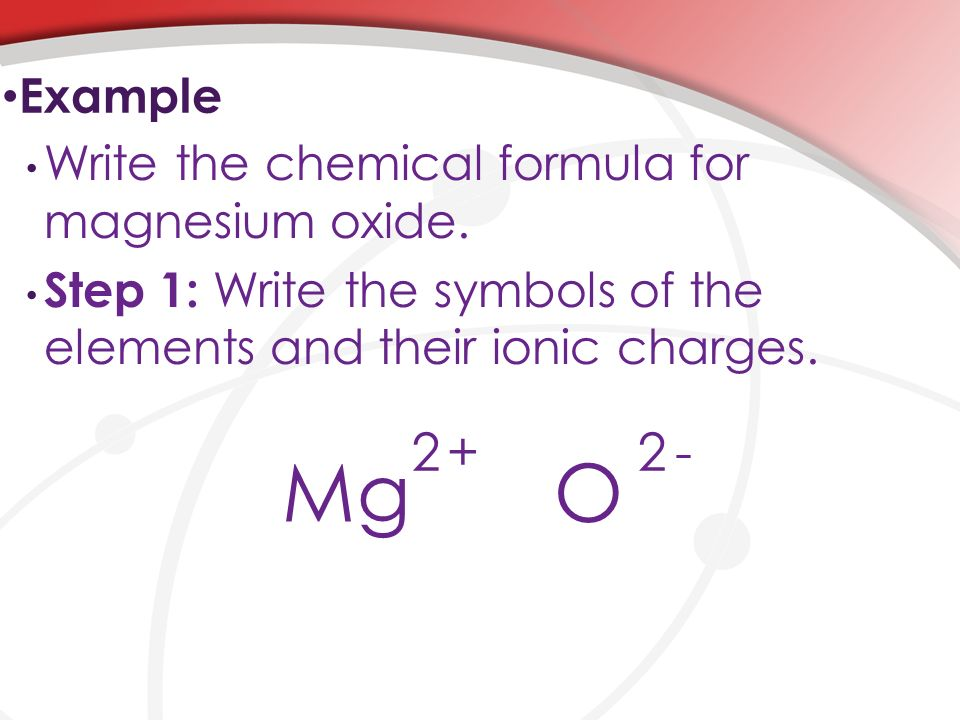 finding the formula of magnesium oxide If the reactants and products are weighed carefully the formula of the copper oxide can be deduced  finding the formula of copper(ii) oxide.