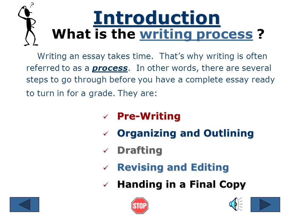 steps in writing an essay ppt video online  what is the writing process