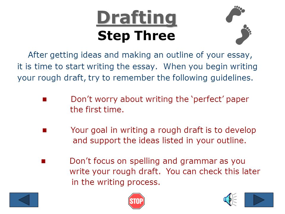 steps in writing an essay ppt video online 5 drafting