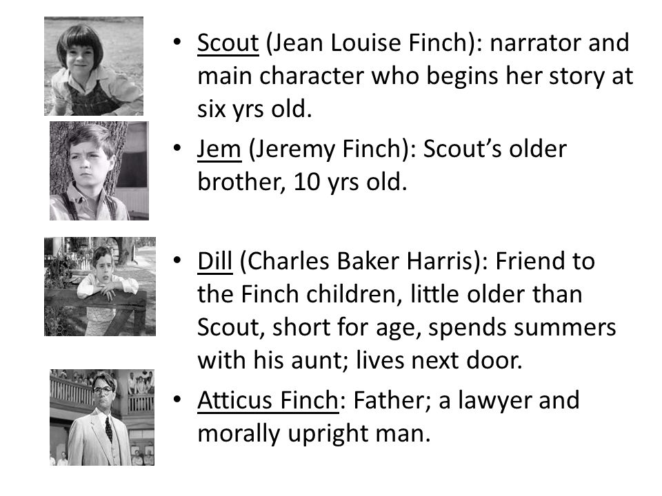 an analysis of the character of scott finch in to kill a mockingbird by harper lee The upcoming broadway adaptation of to kill a mockingbird has finch, one of the story's main characters harper lee jeff daniels scott rudin to kill a.