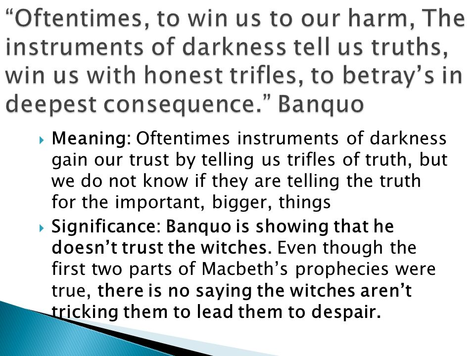 significance of witches in macbeth pdf