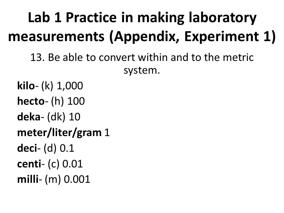 laboratory techniques and measurements lab 1 The first lab addresses a critical part of in science you also want to be sure that the accuracy of the measurements are properly shown lab 1 gets you started with that regular paper will work but not as well because it doesn't have as smooth a finish as laboratory weighing paper.