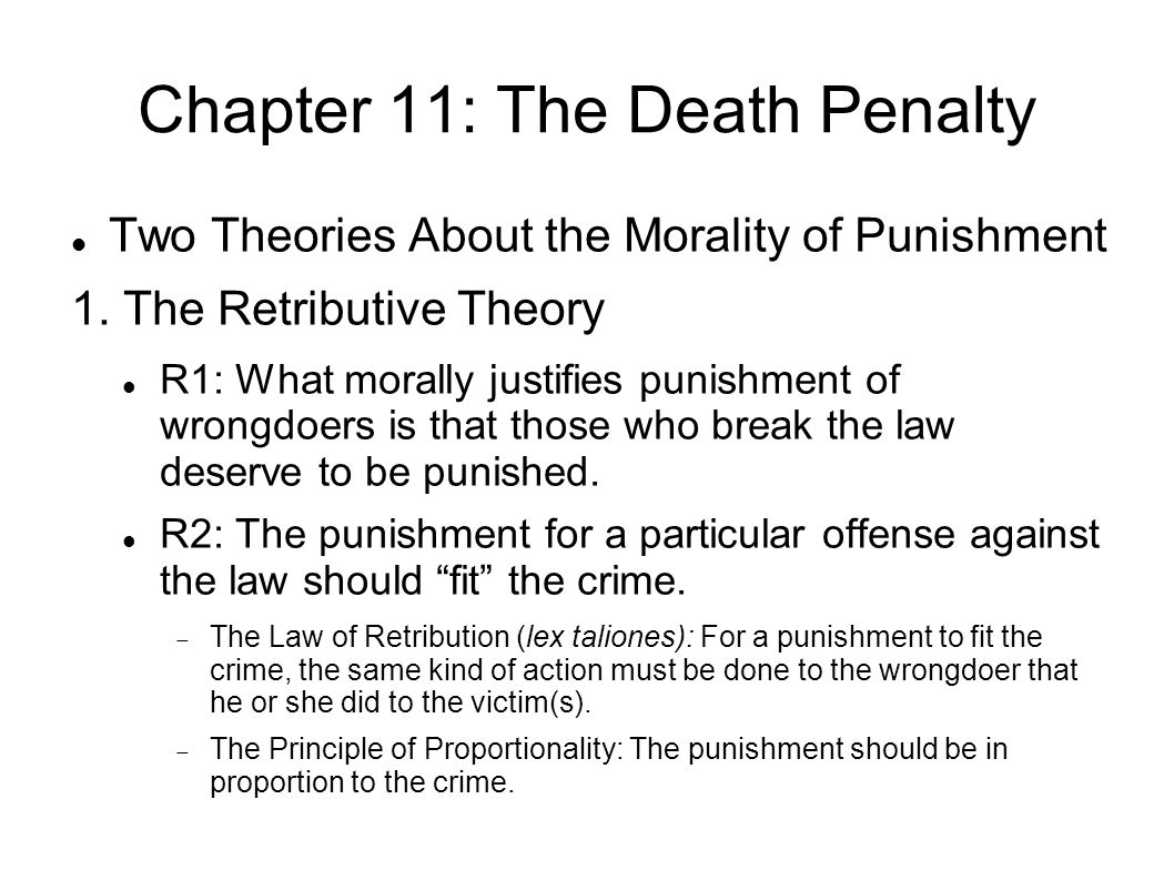 morality and the death penalty Kantian case against the death penalty michael voytinsky abstract immanuel kant is usually understood as a supporter of the death penalty circumstances which did not expose them to temptation or 8 / 17 kantian case against the death penalty pressure to commit immoral actions.