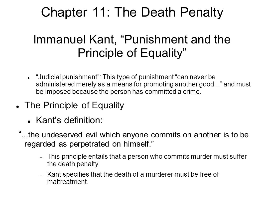 kant and equality For instance, marriage automatically makes the wife the servant of her husband, and kant automatically excludes women from active citizenship one of my aims here is to –as much as is possible– make sense of the tension between the focus on equality, universality, respect for persons and autonomy in kant's overall.