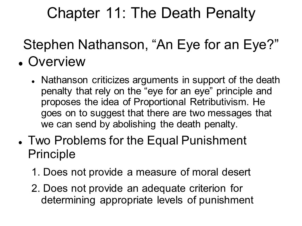 is the death penalty effective argument essay