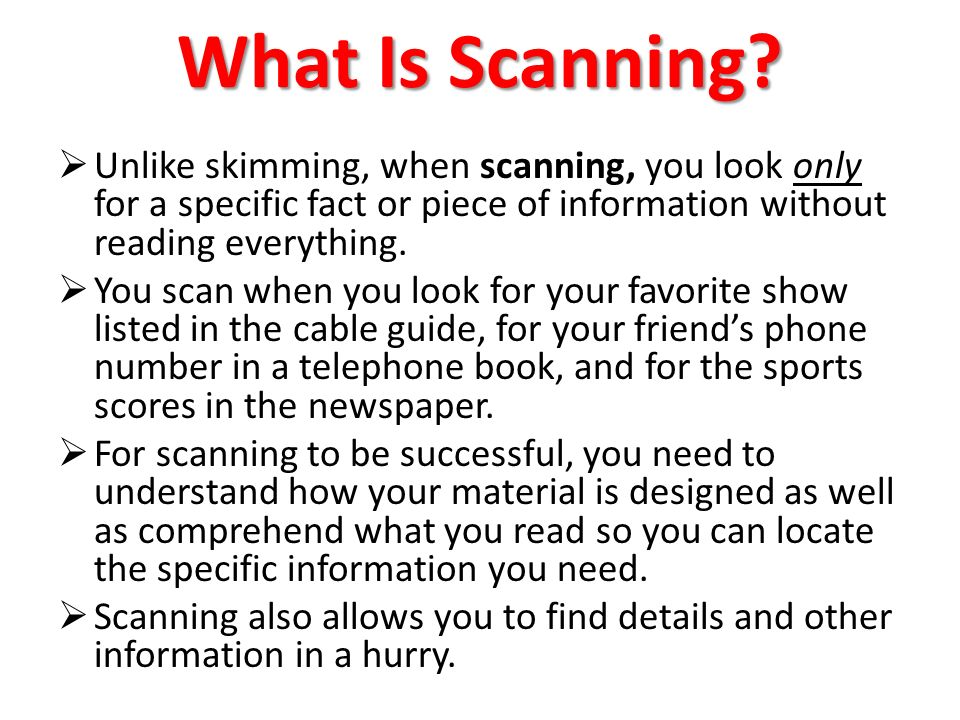 skimming and scanning in reading pdf