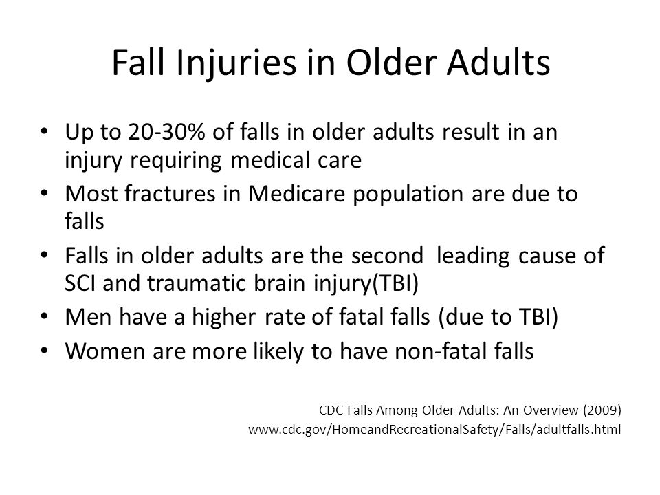 Older adults in injuries