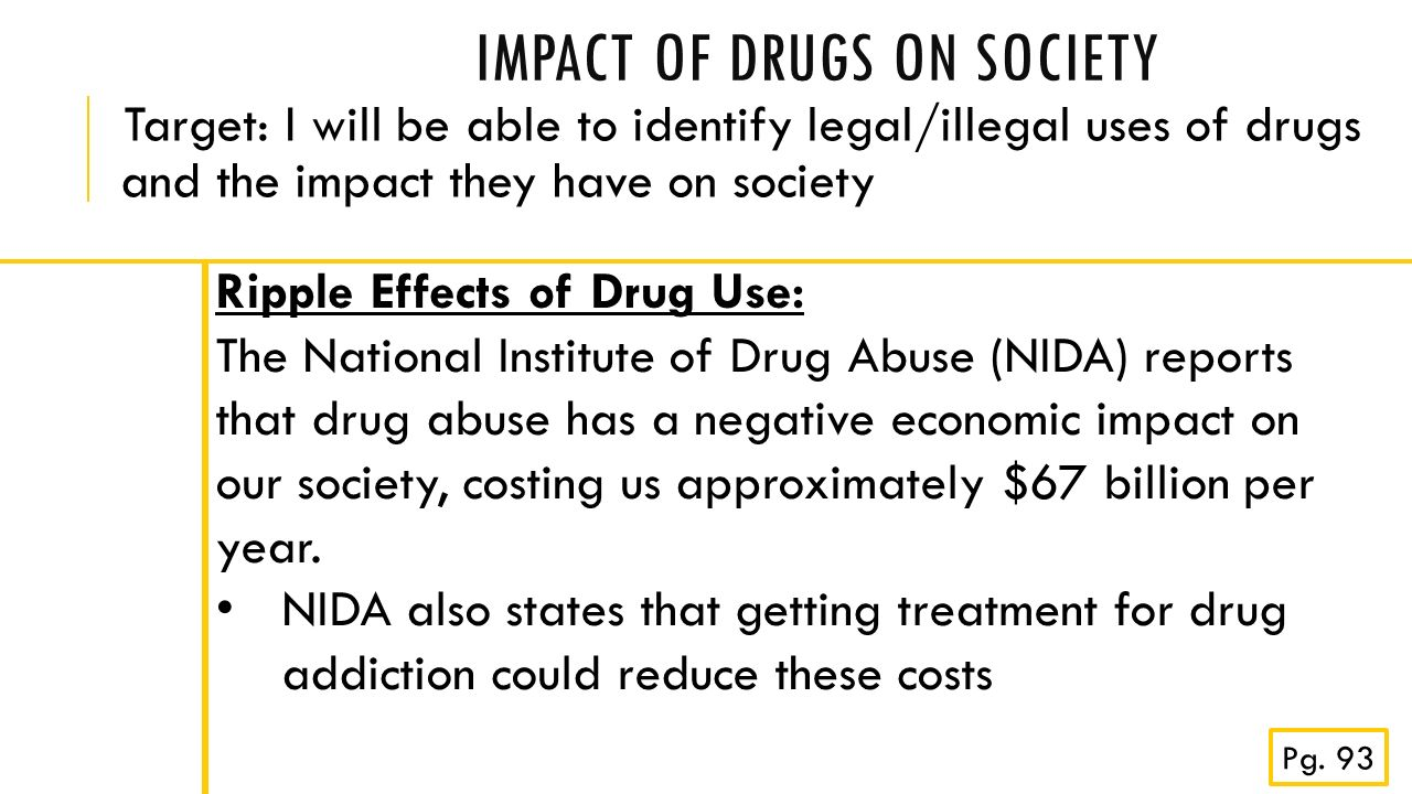 drugs on society cocaine Drugs of abuse delivers clear, scientific information about drugs in a factual, straightforward way with the information in this guide, parents and caregivers can help their children make smart choices and avoid the consequences of drug abuse.