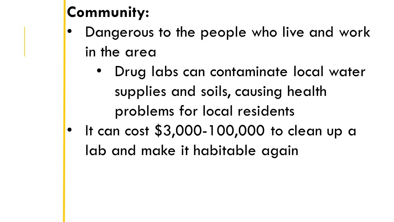 drugs effects on community Document title: drugs, incarceration and neighborhood life: the impact of  reintegrating offenders into the community, executive summary.
