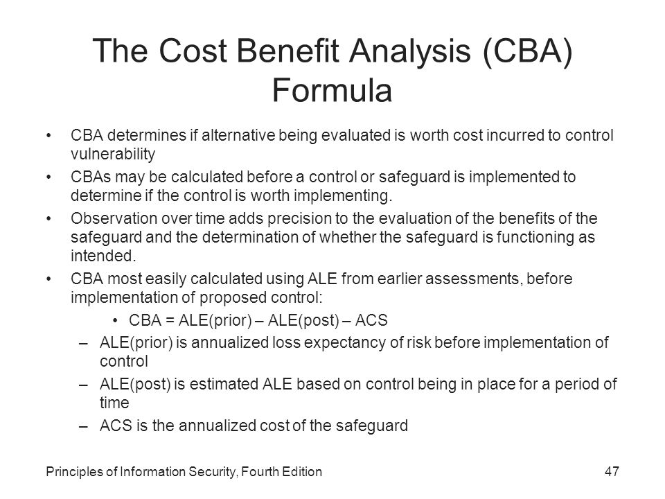 cba analysis The evaluative criteria is economic efficiency the basic idea is that scarce  resources should be allo- cated to their most valued uses cost-benefit analysis ( cba).