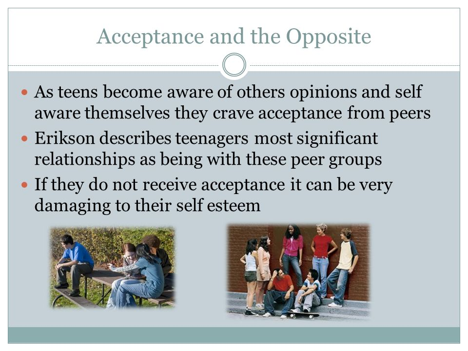 Acceptance and the Opposite