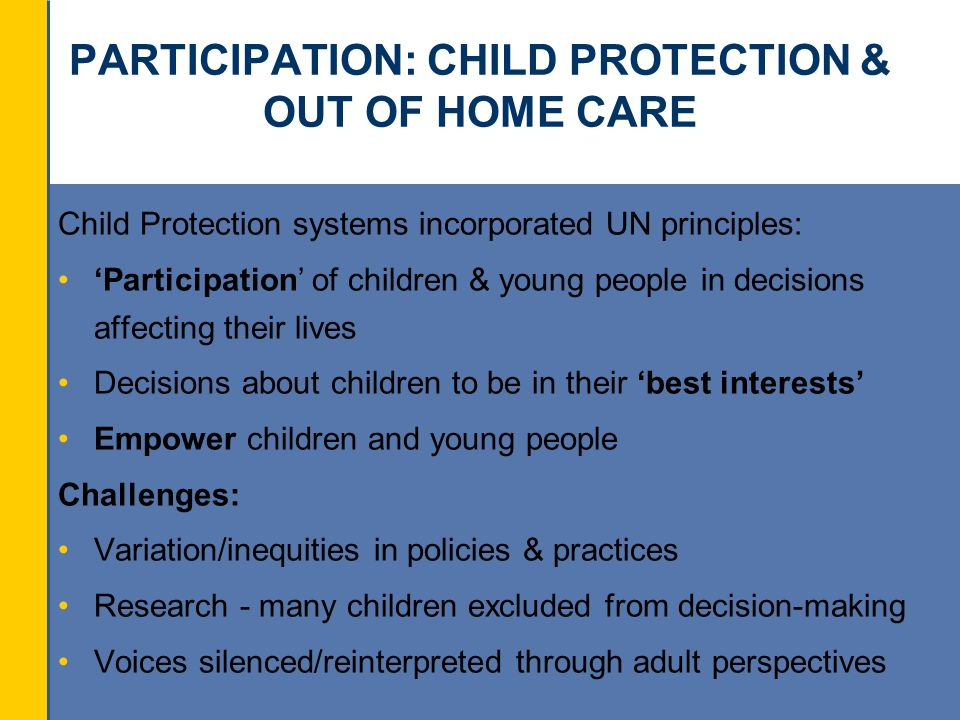child protection legislation policy and practice Section 11 of the children act 2004 places responsibility on key agencies to  safeguard  developing safer services and employment practices across  organisations who  include safeguarding, child protection policies, procedures , role and.