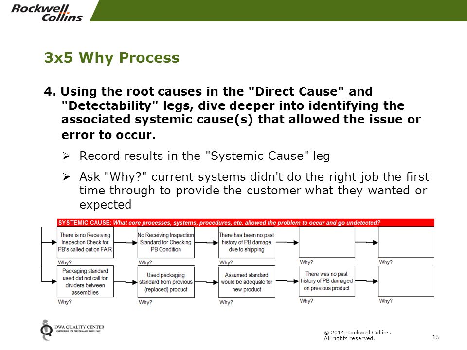 3 legged 5 why root cause analysis ppt video online download - Dive recorder results ...