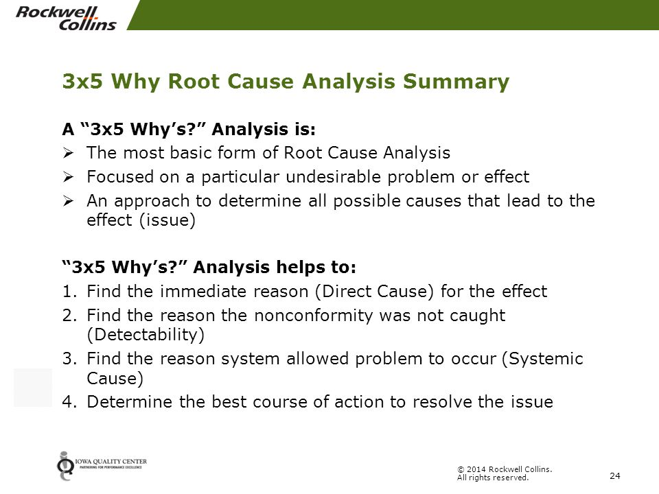 Legged  Why Root Cause Analysis  Ppt Video Online Download