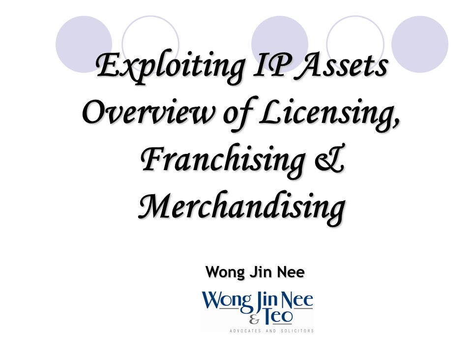 Overview of Licensing, Franchising & Merchandising