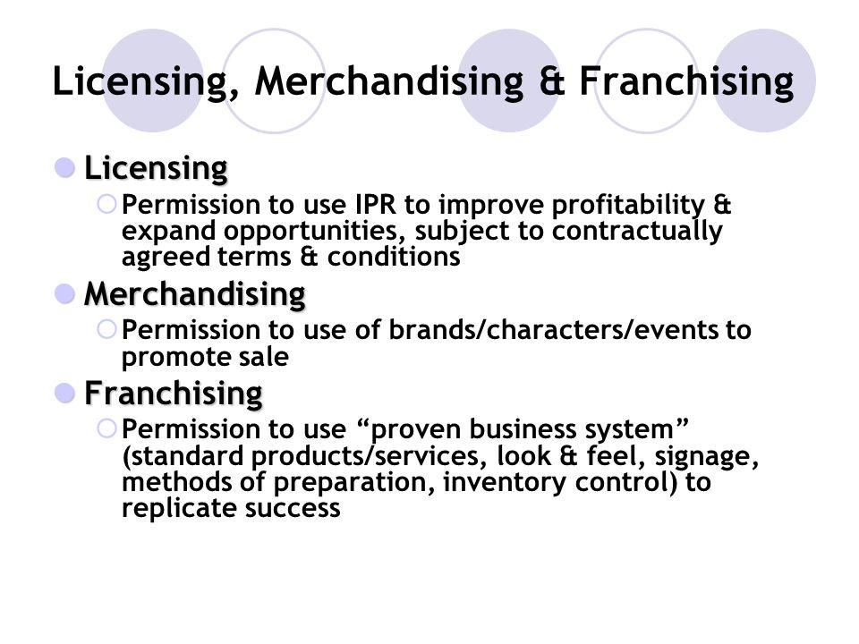 Licensing, Merchandising & Franchising