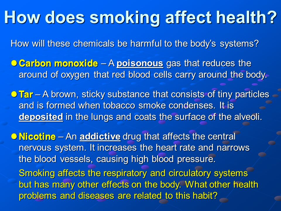 health affects of teen smoking