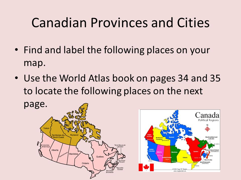 Canadian Geography Ppt Video Online Download - Map of canada to label