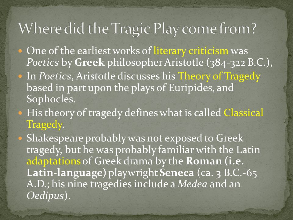 the fatal flaws of medea This end is usually brought about by some fatal flaw of  in medea, a tragedy written by  this tragedy was brought about by oedipus' own flaws in.