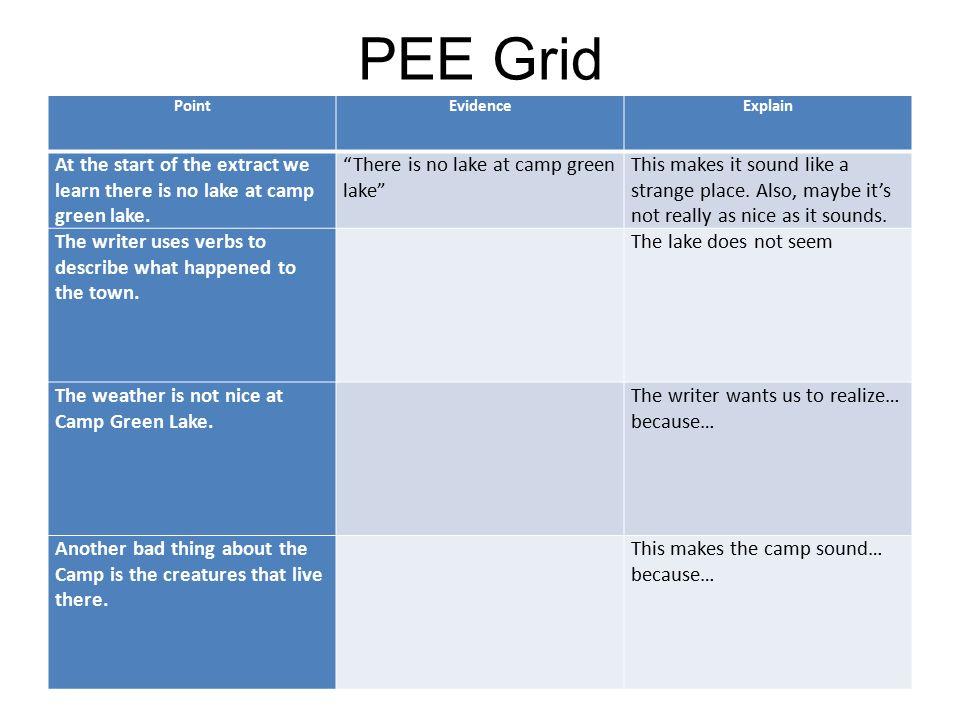 Holes Assessment PEE Paragraphs!.