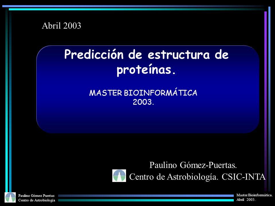 Predicción de estructura de proteínas.