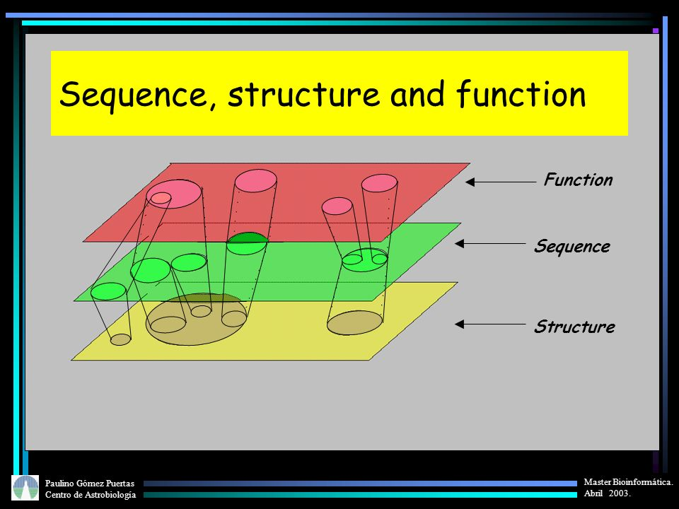 Sequence, structure and function