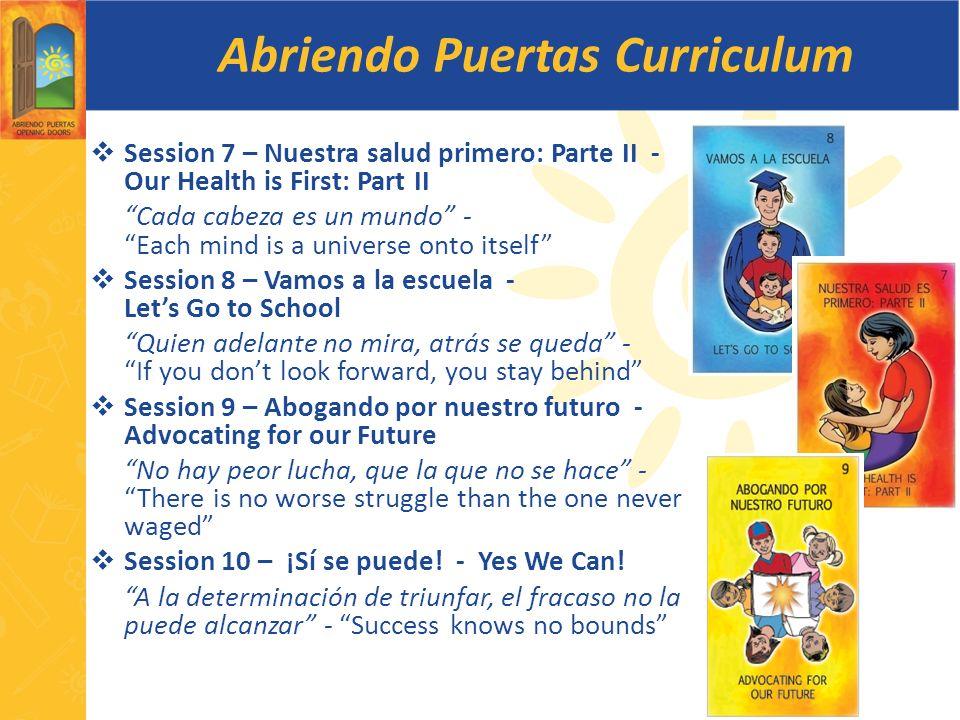 Abriendo Puertas Curriculum