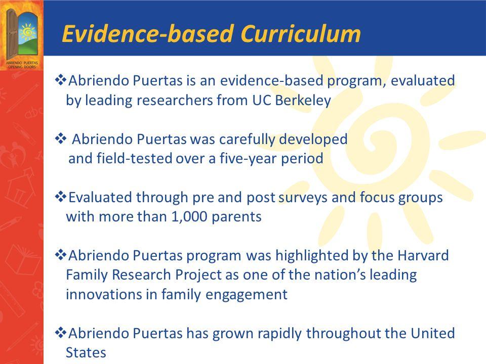 Evidence-based Curriculum
