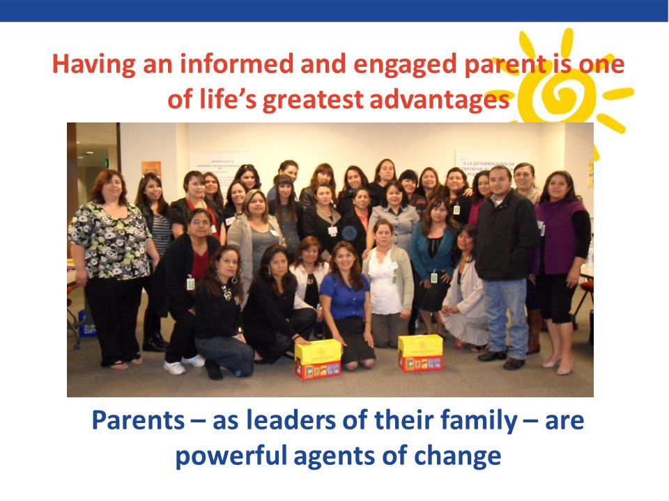 Parents – as leaders of their family – are powerful agents of change