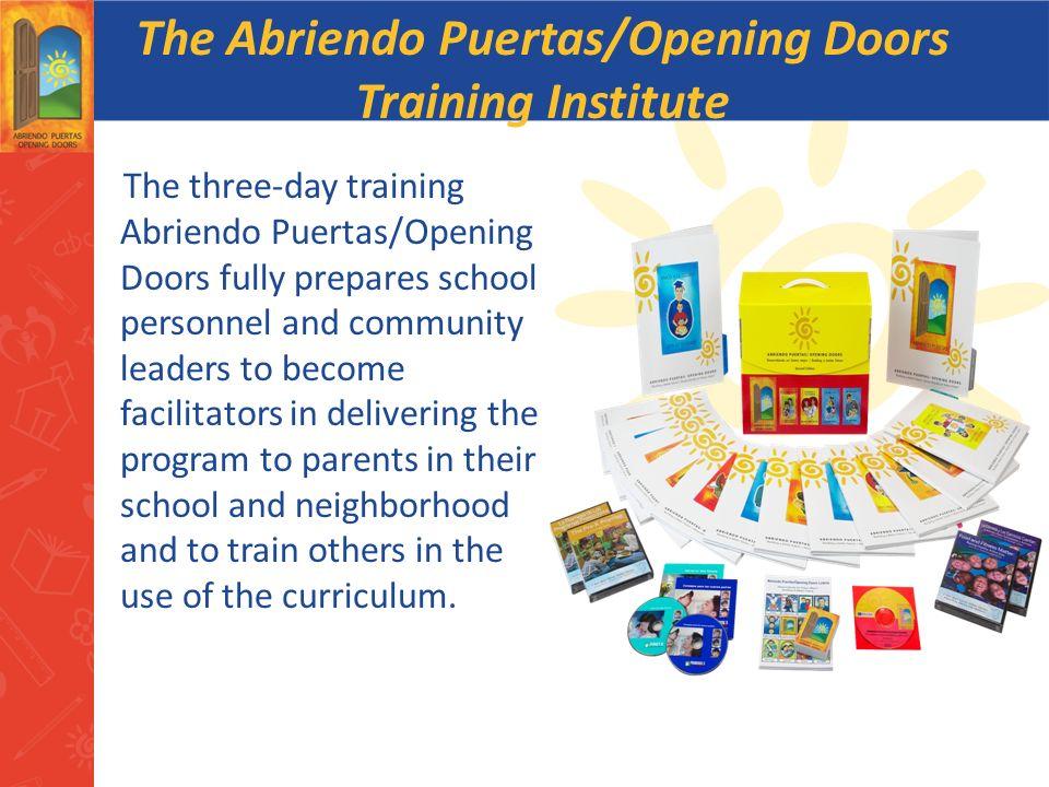 The Abriendo Puertas/Opening Doors Training Institute