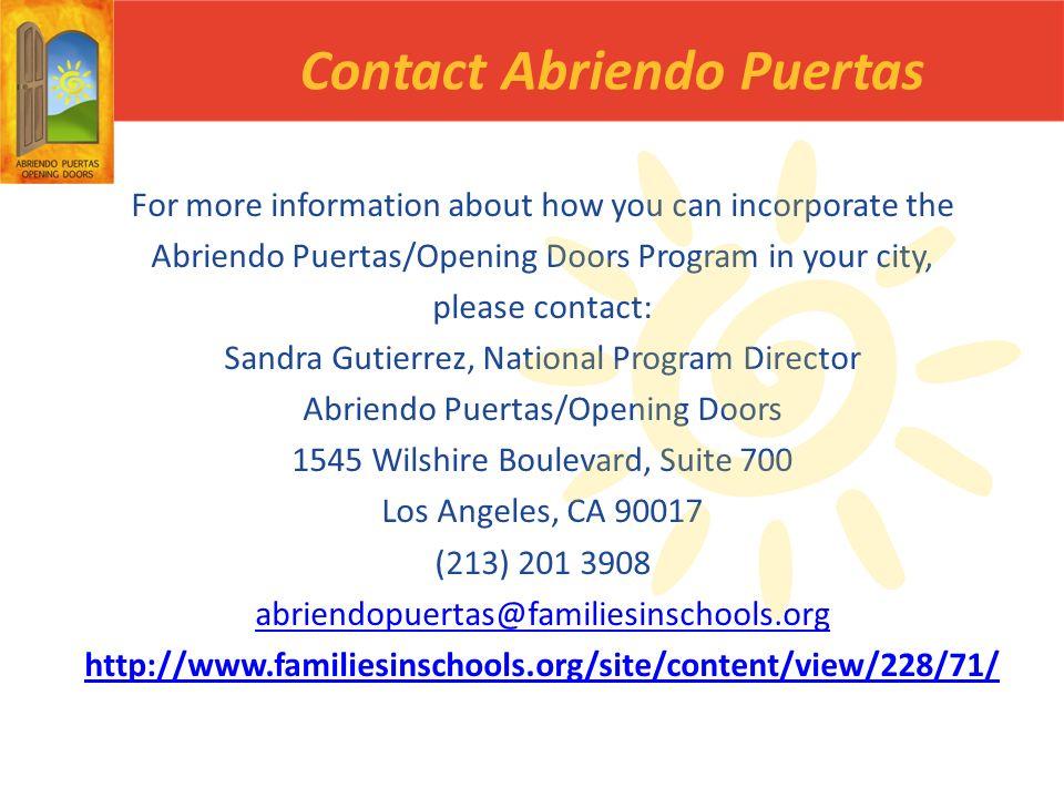 Contact Abriendo Puertas
