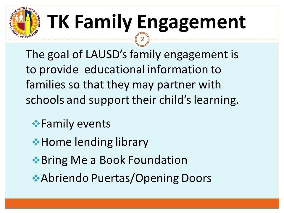 T TK Family Engagement