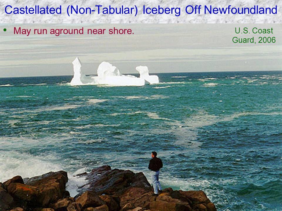 Castellated (Non-Tabular) Iceberg Off Newfoundland