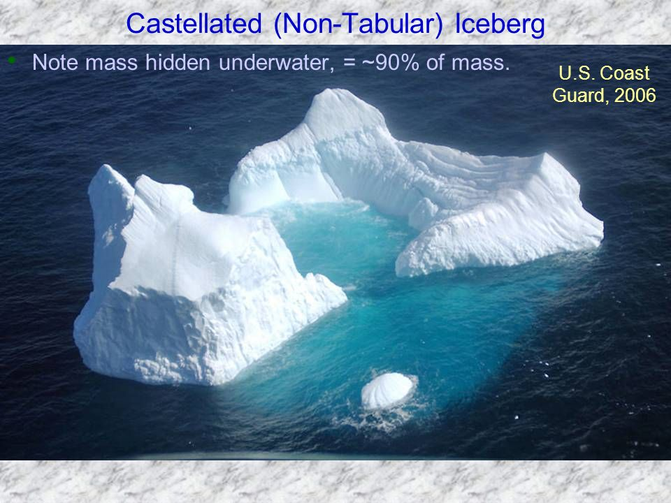 Castellated (Non-Tabular) Iceberg