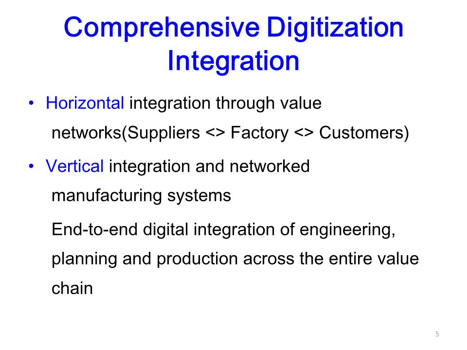 manufacturing and vertical integration