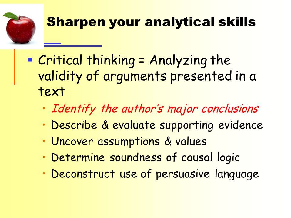evaluate the evidence to support the