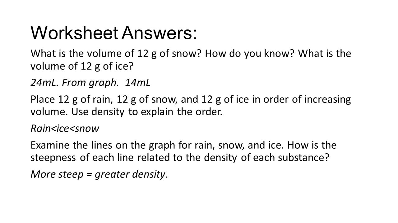 4 Worksheet Answers: What is the volume ...